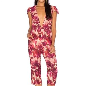 For Love And Lemons Sweet Jane Cropped Jumsuit